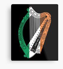 Ireland Flag Irish Harp St. Patrick's Day Metal Print