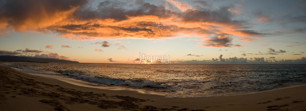 North Shore sunset by jtgray