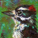 Reasons to Be Cheerful: Downy Woodpeckers by Rosemary Conroy