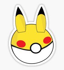 Pikachu Inspired Ball Sticker