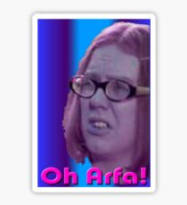 Oh Arfa! - Olive - On The Buses Sticker