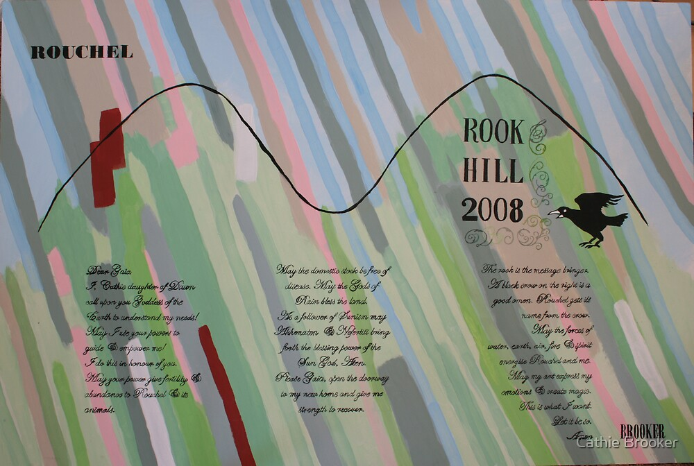 Rook Hill Spell Painting by Cathie Brooker