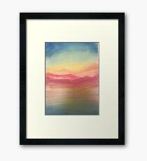 Let's travel Framed Print