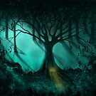 Forest Light - Fantasy Landscape by Michelle Wrighton by Michelle Wrighton