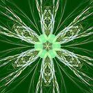 Fractal Green Blue Flower by Vitta