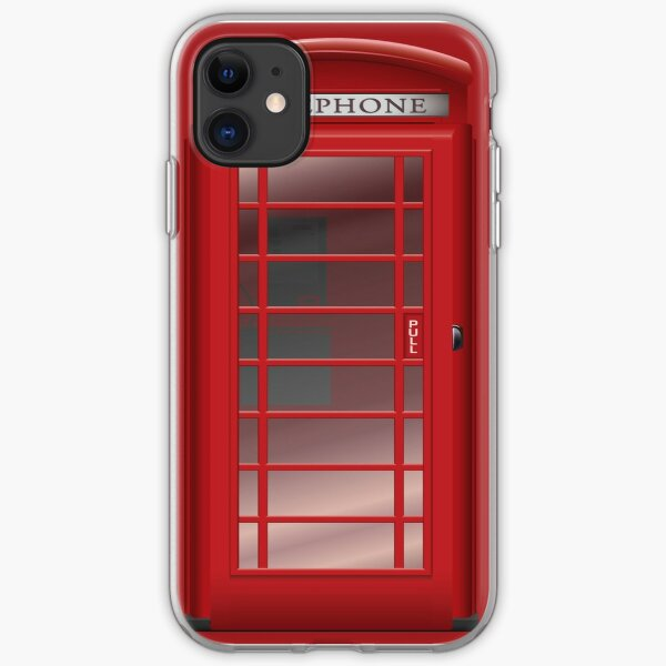 London Red Phone Booth Box  iPhone Soft Case