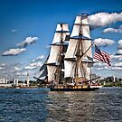 Sailing Home - Erie, PA by Kathy Weaver