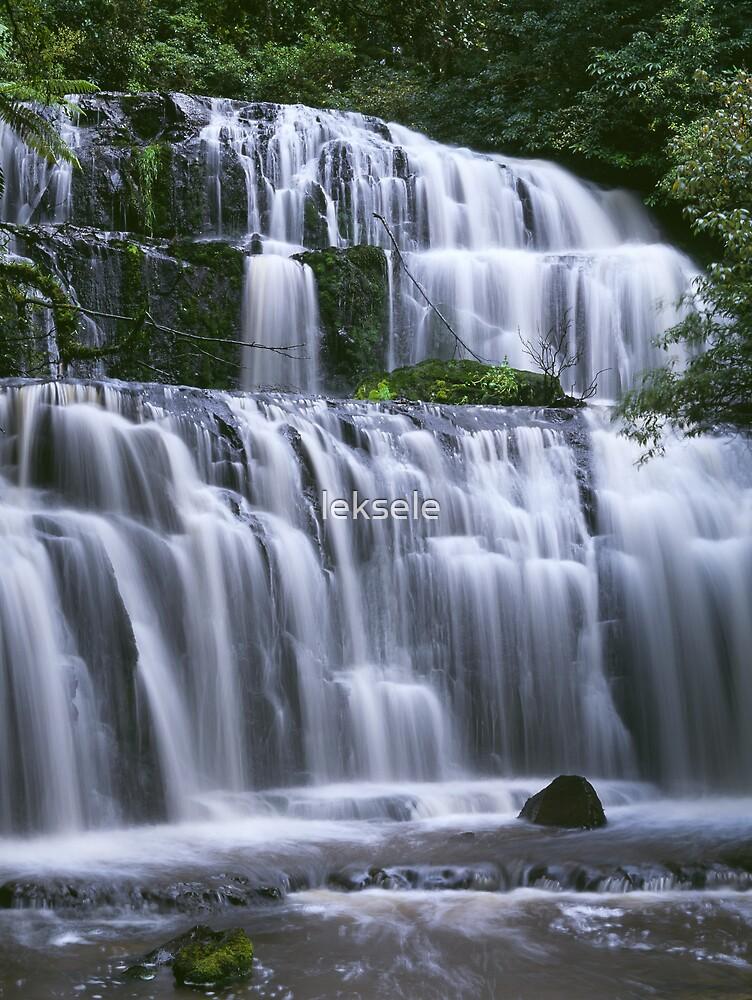 Purakaunui Falls by leksele
