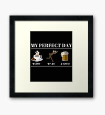 Photography Photographer My perfect Day Photograph Gift  Framed Print