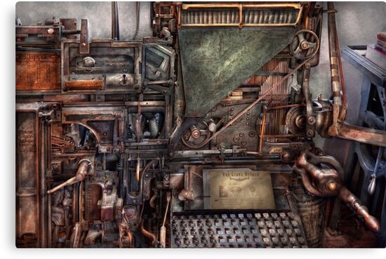Steampunk - Machine - All the bells and whistles  by Michael Savad