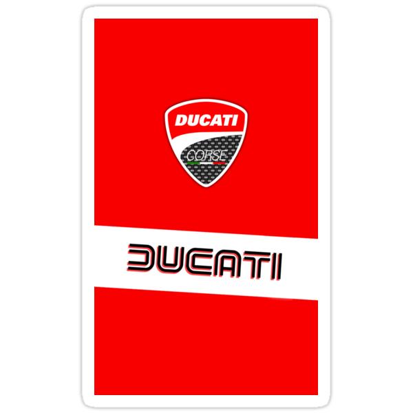 Ducati Corse Logo Sticker By Richardshank