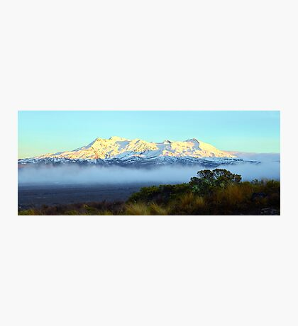 First Light on Ruapehu Photographic Print