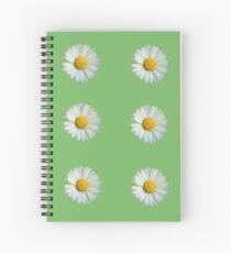Six white daisies Spiral Notebook