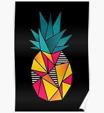 90er Jahre Polygon Ananas Poster