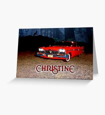 Christine Plymouth Fury 1958  Greeting Card