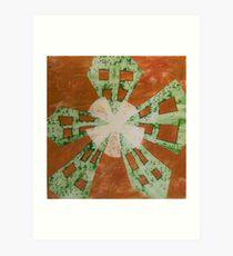 Lime Windmill Art Print