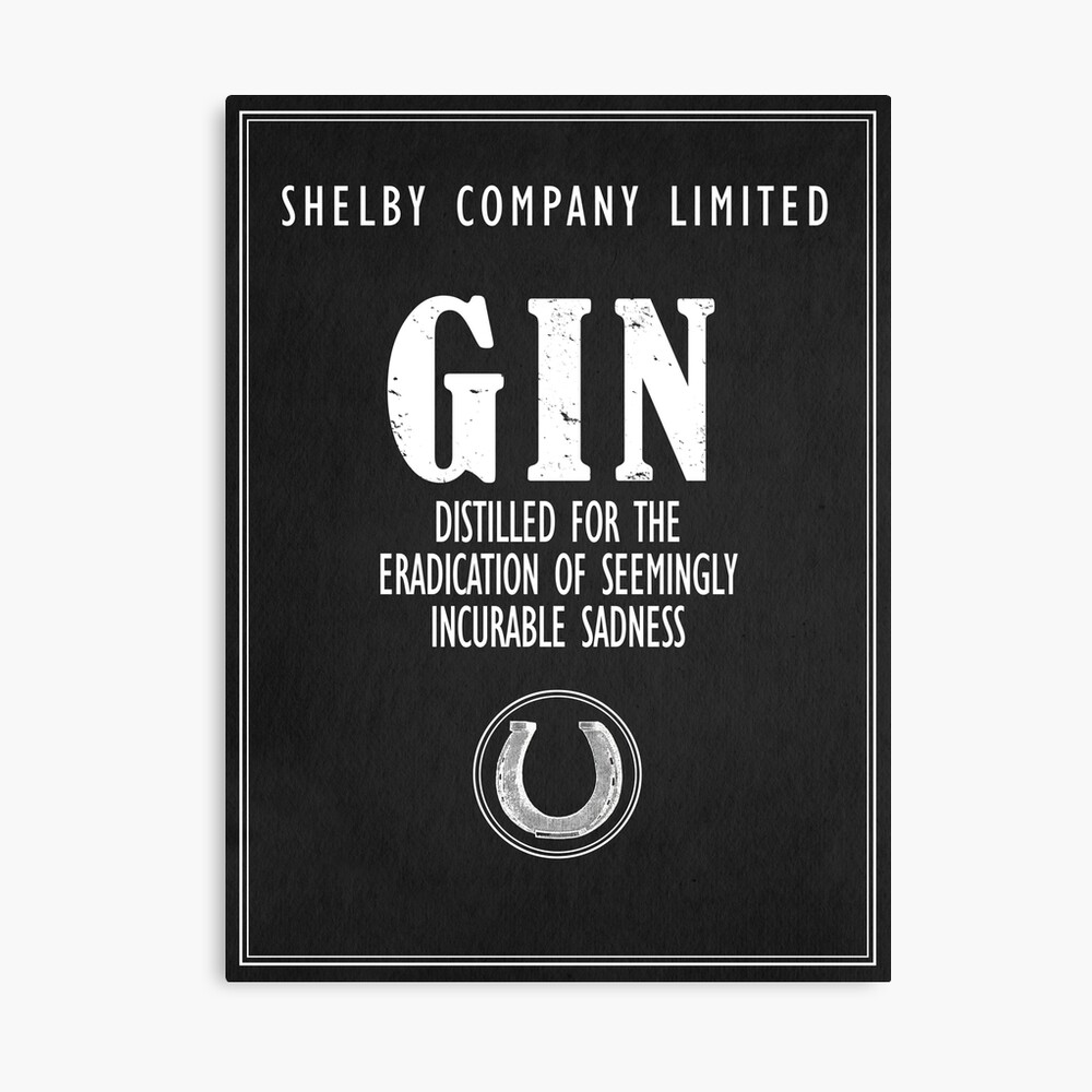 Gin Distilled For The Eradication of Sadness Canvas Print