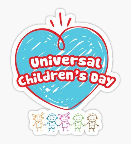 Loving heart for all children Sticker