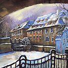 Prague Chertovka Winter 01 by Yuriy Shevchuk