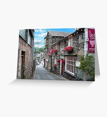 Slate Houses in the Lake District - Reworked Greeting Card