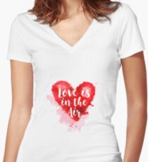 Love is the Air Women's Fitted V-Neck T-Shirt
