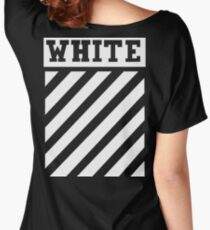 Off White (Black) Women's Relaxed Fit T-Shirt