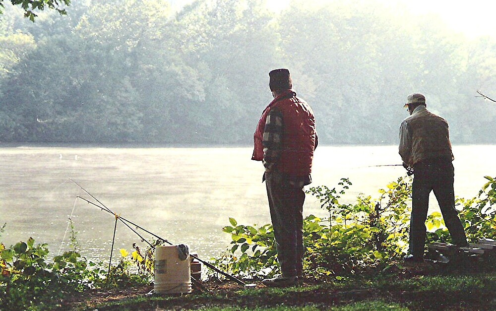 Bank Fishing the Schuylkill River by drumsandkeys