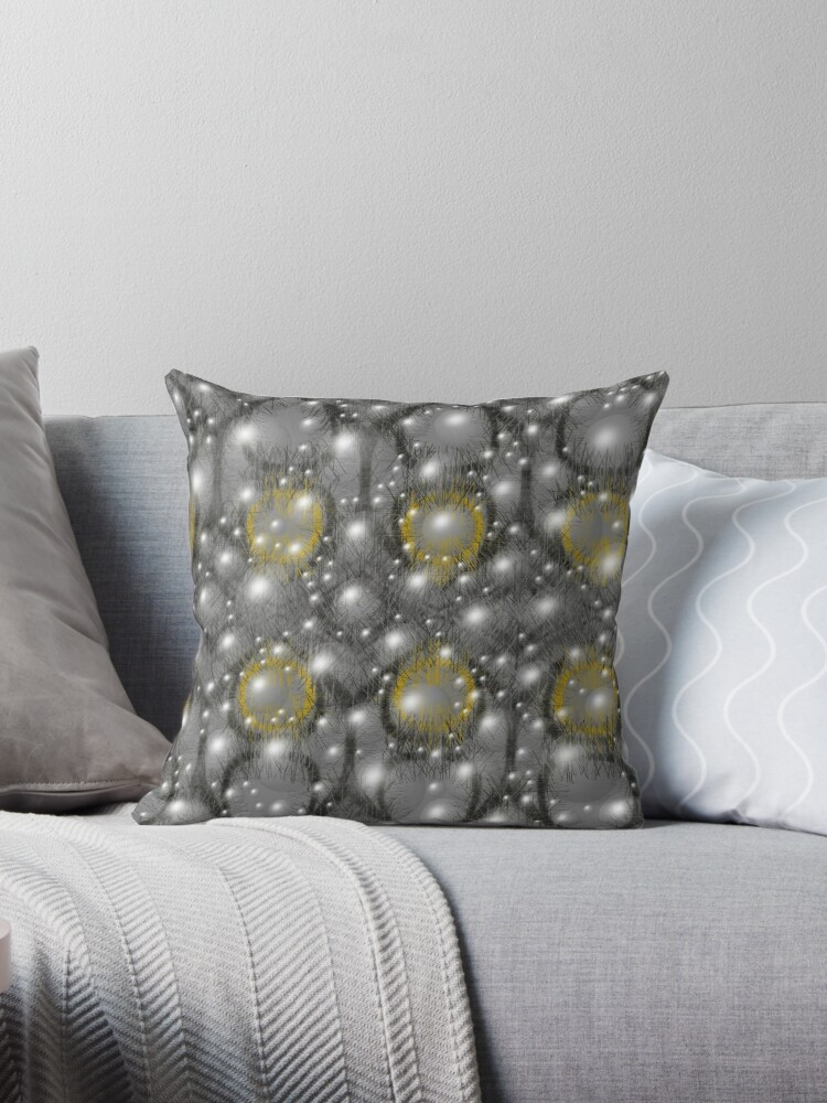 Light bubbles on grey, with yellow. by MarilynBaldey7