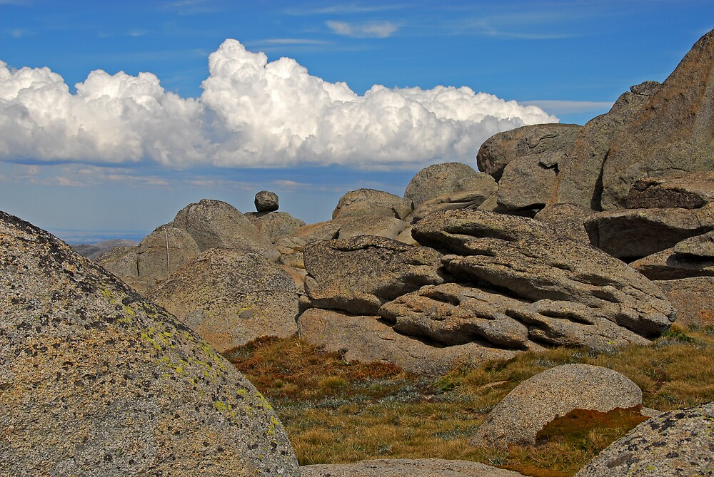 Clouds and rocks by Richard  Stanley