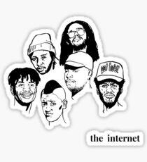 The Internet side logo Sticker