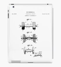 Dumbbell Patent Drawing Blueprint iPad Case/Skin