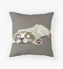 Derpy Pyrenees Dog Throw Pillow