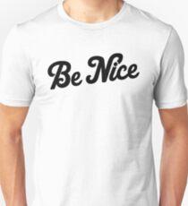 Be Nice [Black] Unisex T-Shirt