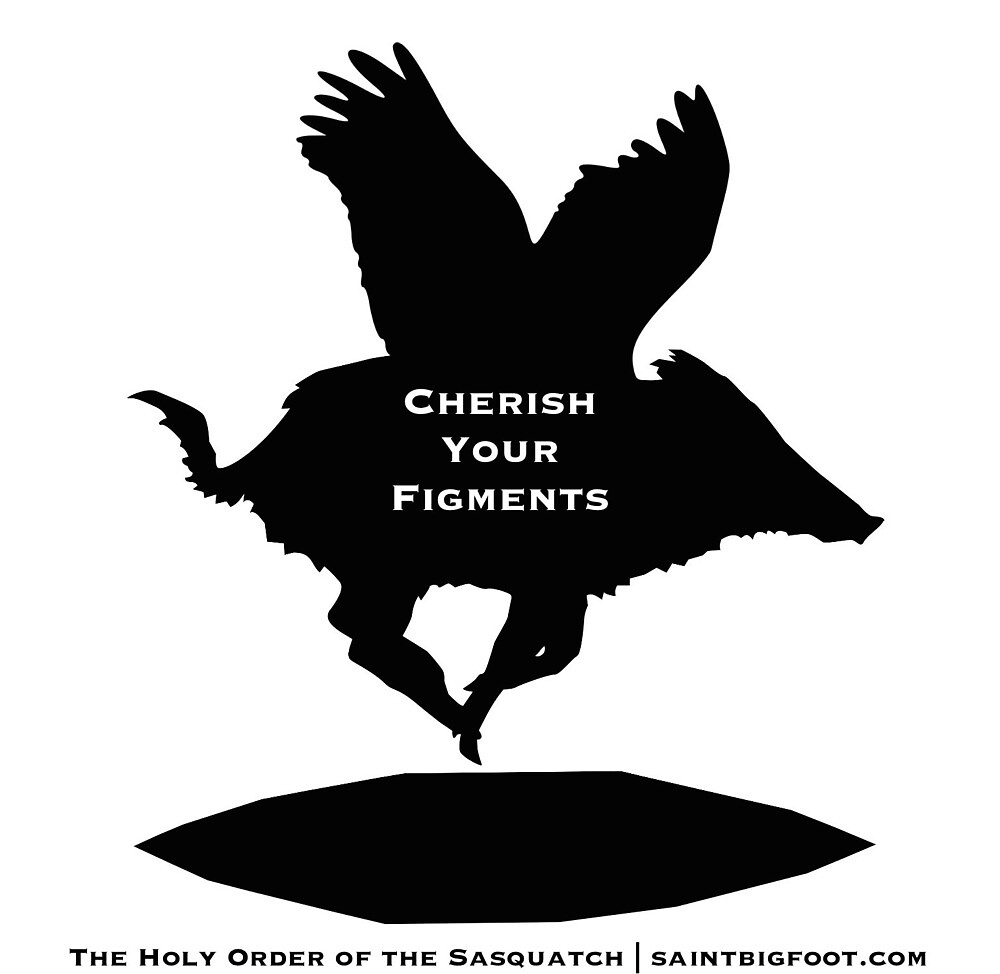 Cherish Your Figments / Flying Pig by SaintBigfoot