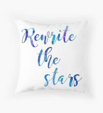 """Rewrite The Stars"" Blue and Purple Galaxy Throw Pillow"