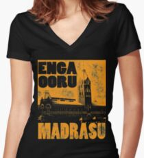 Chennai - Madras Women's Fitted V-Neck T-Shirt
