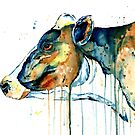 Dairy Cow - Feeling Blue by Lisa Whitehouse