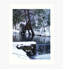 Little Bear Creek With a  Waterfall Art Print