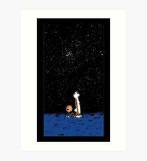 Calvin and Hobbes Night Art Print