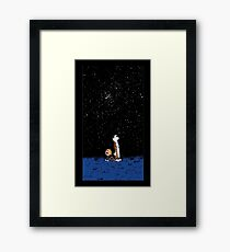 Calvin and Hobbes Night Framed Print