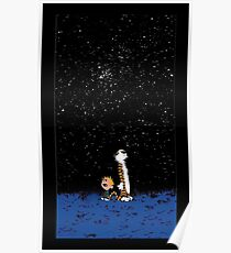 Calvin and Hobbes Night Poster