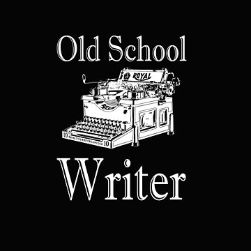 Writer Funny Design - Old School Writer by kudostees