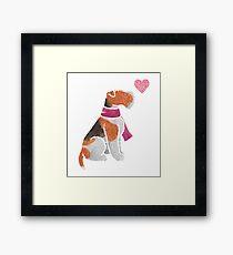 Watercolour Wire Fox Terrier Framed Print