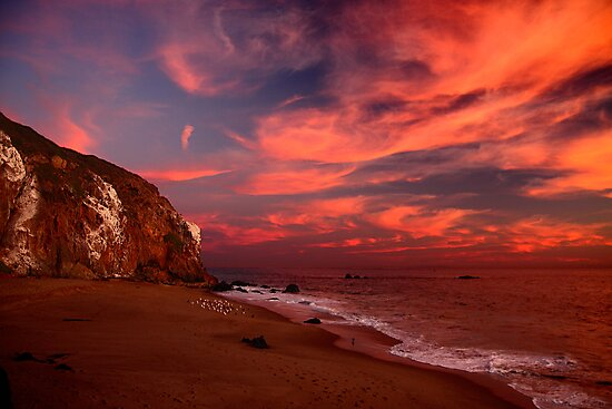 Point Dume with Flare by Amos Zhang