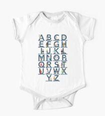 Careers Alphabet Shirt Short Sleeve Baby One-Piece
