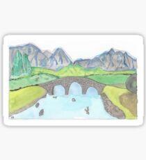 Watercolor Scotish landscape Isle of Skye, Scotland Sticker