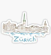 Zurich Panorama Sticker