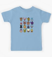 Five Nights at Freddy's - Pixel art - Multiple characters Kids Tee