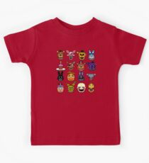 Five Nights at Freddy's - Pixel art - Multiple characters Kids Tee