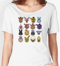 Five Nights at Freddy's - Pixel art - Multiple characters Women's Relaxed Fit T-Shirt